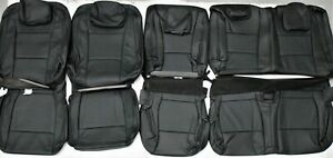 2015 2018 Ford F150 Xlt Super Cab Black Leather Upholstery Seat Cover Set New