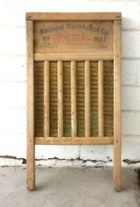 Vintage Washboard National Washboard Company The Brass King Top Notch No 801