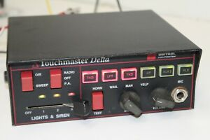Federal Signal Unitrol Delta Touchmaster Siren Public Address Amplifier Control