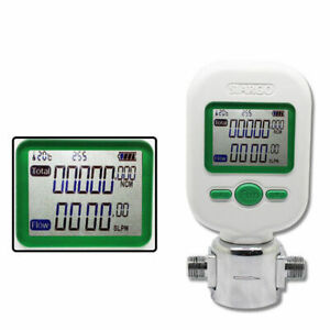 New Professional 0 10l min Digital Protable Gas Air Nitrogen Oxygen Flow Meter