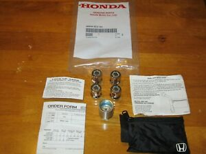 Genuine Oem Honda Used 08w42 Scv 101 Wheel Lock Set See Vehicle List