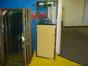 Anthony Walk In Swinging Cooler Doors With Gold Frame 29 x78 1 2