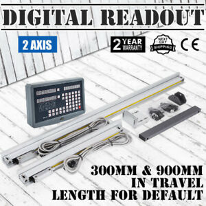 2 Axis Digital Readout Dro Display Linear Scale Cnc Milling Lathe Encoder
