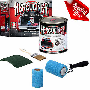 Brush On Bed Liner Kit Herculiner Protective Truck Coating Roll On Resistant New