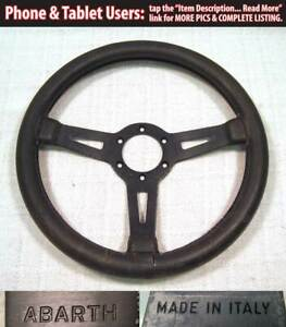 Vintage Abarth Steering Wheel Rare Small 330mm Momo Italy Porsche Fiat 911 914