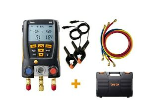 Testo 550kit 0563 2550 Digital Manifold Kit With 3 Hoses And 2 Clamp Probes