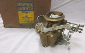 Vintage Dodge D 55 3 V8 Super Red Ram 1955 Stromberg Carburetor Nos 380364