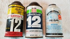 Three 14 Oz Cans R12 Freon Refrigerant