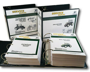 Technical Service Testing Manual Set For John Deere 4050 4250 4450 Tractor