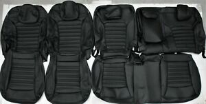2015 2017 Ford Edge Se Sel Black Auto grade Leather Upholstery Seat Cover Set