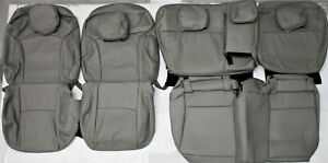 Fits 2014 2018 Subaru Forester Premium Gray Leather Upholstery Seat Cover Set