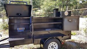 Mini Ribmaster Mobile Bbq Smoker 36 Grill Trailer Tent Mount Food Truck Vending