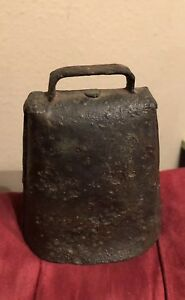 1800 S Primitive Antique Vintage Goat Sheep Cow Bell Folded Iron Farm Livestock