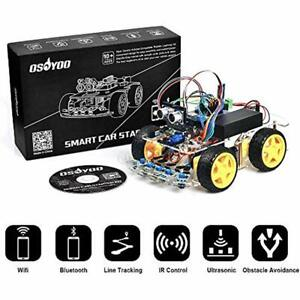 Osoyoo Robot Smart Car For Arduino Diy Learning Kit With Tutorial Android Ios