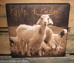 Goat Kids 4 Sale Canvas Wall Picture Farmhouse Primitive French Country Decor