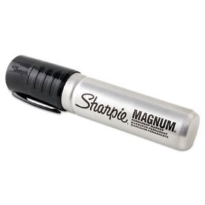 Magnum Permanent Markers Chisel Tip Black pack Of 12 New Free Shipping