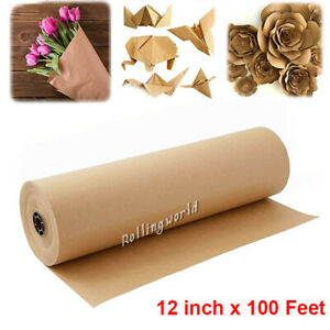 Brown Kraft Paper Roll Shipping Wrapping Craft Cushioning Void Fill 12 100 Feet