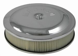 Moroso Chrome Air Cleaner And Filter Assembly 14 Inch X 3 Inch 65913