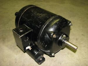 1 Hp Electric Motor Hoover 7351ll15890 220 440 Volt Ac 3 phase 1725 1425 Rpm
