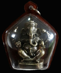 Lord Ganesh Statue Pendant Antique Hindu Charm Success Talisman Thai Amulet