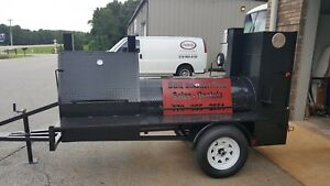 Mini Hogzilla Mobile Bbq 30 Grill 4 Barrel Smoker Trailer Food Truck Concession