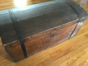 Antique Wood And Iron Pirates Chest