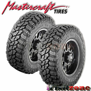 2 Mastercraft Courser Mxt 37 13 50r20lt Blk D 8 All Terrain Mud Tires