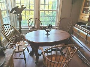 Set 4 Windsor Oak Bow Sack Back Arm Chair Inquire Delivery Possibility Inquire