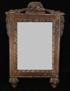 Italian 18th Cent Framed Mirror Mirror Measures 8 5 8 X 6