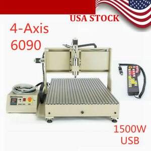 6090 Usb 4axis Cnc Router Engraver 1500w Engraving Milling Cutter remote Control