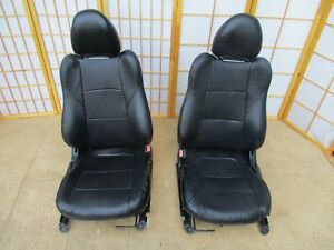 93 97 Honda Civic Del Sol Vtec Usdm Oem Interior Black Leather Bucket Seat Set