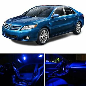 6x Blue 12v Car Led Interior Lights Bulbs Package Kit For Toyota Camry 2002 2006