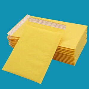 Kraft Bubble Mailers Padded Envelopes Shipping Bags Pack Free Shipping Us Seller