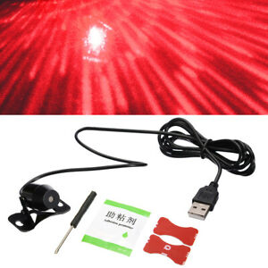 Usb 5v Star Light Led Projector Light Car Interior Atmosphere Ambient Lamp Red