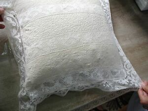 Beautiful Antique Lace Pillow Cover Very Fine Workmanship