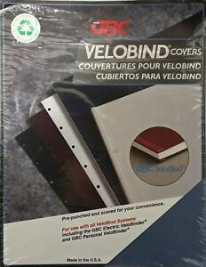 Gbc Velobind Presentation Covers 25 Sets Pre punched Medium Blue Linen