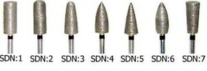 7 Sintered Diamond Burs Hp Shank For Your Dental Lab