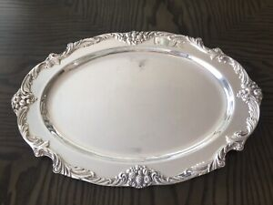 Reed Barton King Francis 1676 Silverplate Serving Meat Platter Tray 19 X13