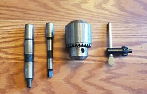 Jacobs 5 64 1 2 Drill Chuck 33 Taper And 2 Jacobs Chuck Arbors 33 J t