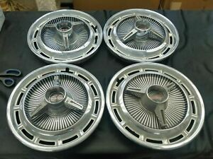 1965 65 1966 66 Chevy Chevrolet Impala 14 14 Inch Hubcaps Wheelcovers W Spinne