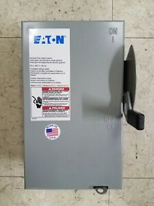 New No Box Eaton Non Fusible Dg321ugb 30a 240v Safety Switch Disconnect
