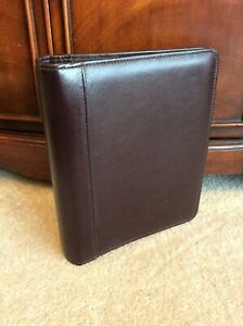 Classic 1 5 Franklin Covey Quest Brown Top Grain Leather Open Planner Binder