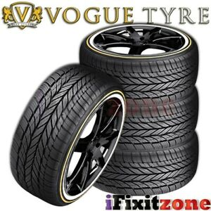 4 Vogue Tyre Custom Built Radial Viii 205 55r16 91h White N Gold Wall Tires