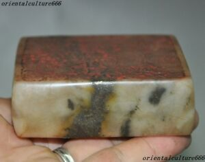 Rare Old Chinese Dynasty Shoushan Stone Pure Hand Carved Double Sided Seal Stamp