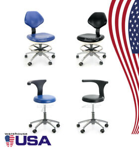 Us 360 Rotation Dental Mobile Chair Adjustable Stool Dentist Chair Pu Leather