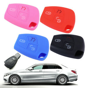 3 Button Remote Key Cover Fit For Mercedes Cl55 Cl600 Cl65 Silicone Case Fob