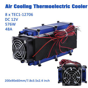 12v 576w 8 Chip Tec1 12706 Diy Thermoelectric Cooler Refrigeration Cooling Fan