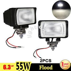 2x 6 3 55w 4300k Xenon Hid Work Light Flood Beam Atv Suv Truck Offroad Ute Car