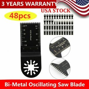 48 Pc Oscillating Multi Tool Saw Blade For Fein Multimaster Bosch Makita Usa