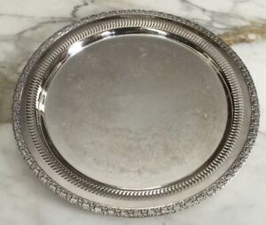 Round Silver Plate Tray By International Silver Co Camelot Pattern